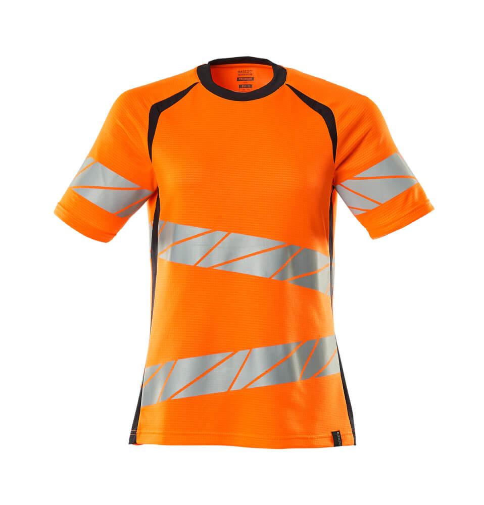 19092-771-14010 T-shirt - hi-vis orange/mørk marine
