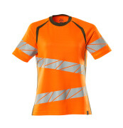 19092-771-1433 T-shirt - hi-vis orange/mosgrøn