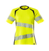 19092-771-17010 T-shirt - hi-vis gul/mørk marine