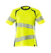 19092-771-1744 T-shirt - hi-vis gul/mørk petroleum