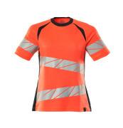 19092-771-22210 T-shirt - hi-vis rød/mørk marine