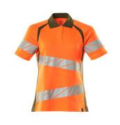19093-771-1433 Poloshirt - hi-vis orange/mosgrøn