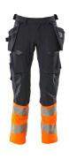 19131-711-01014 Bukser med hængelommer - mørk marine/hi-vis orange