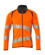 19184-781-14010 Sweatshirt med lynlås - hi-vis orange/mørk marine