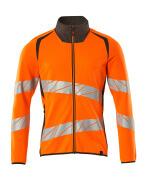 19184-781-1418 Sweatshirt med lynlås - hi-vis orange/mørk antracit