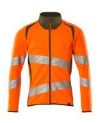 19184-781-1433 Sweatshirt med lynlås - hi-vis orange/mosgrøn