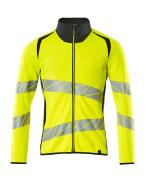 19184-781-17010 Sweatshirt med lynlås - hi-vis gul/mørk marine