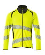 19184-781-1709 Sweatshirt med lynlås - hi-vis gul/sort