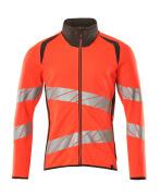 19184-781-22218 Sweatshirt med lynlås - hi-vis rød/mørk antracit