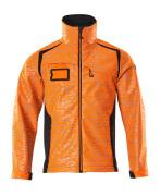 19202-291-14010 Softshell jakke - hi-vis orange/mørk marine