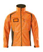 19202-291-1433 Softshell jakke - hi-vis orange/mosgrøn