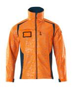 19202-291-1444 Softshell jakke - hi-vis orange/mørk petroleum