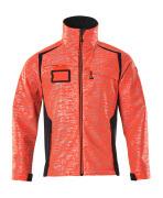 19202-291-22210 Softshell jakke - hi-vis rød/mørk marine