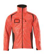 19202-291-22218 Softshell jakke - hi-vis rød/mørk antracit