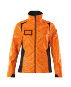 19212-291-14010 Softshell jakke - hi-vis orange/mørk marine
