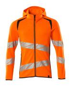19284-781-14010 Hættetrøje med lynlås - hi-vis orange/mørk marine