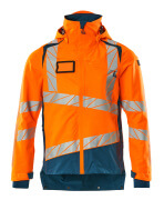 19301-231-1444 Skaljakke - hi-vis orange/mørk petroleum