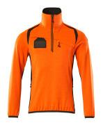 19303-316-1418 Fleecetrøje med kort lynlås - hi-vis orange/mørk antracit