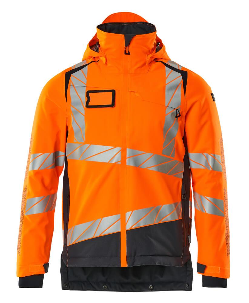 19335-231-14010 Vinterjakke - hi-vis orange/mørk marine