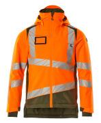 19335-231-1433 Vinterjakke - hi-vis orange/mosgrøn
