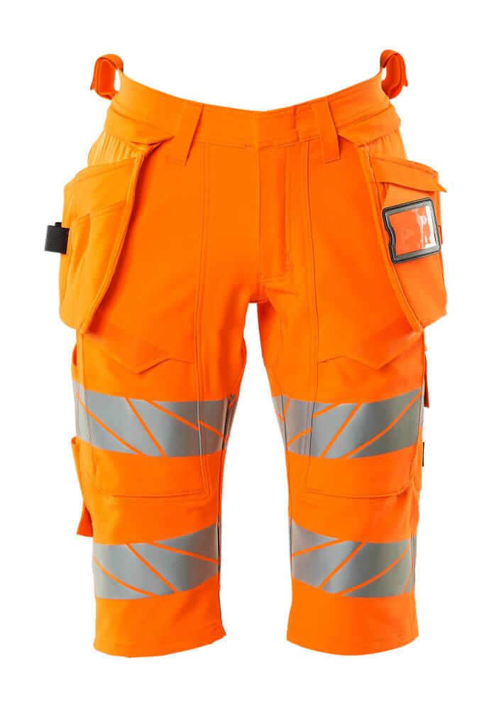 19349-711-14 Shorts, lange med hængelommer - hi-vis orange