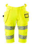 19349-711-14 Shorts, lange med hængelommer - hi-vis orange
