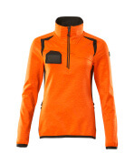 19353-316-1418 Fleecetrøje med kort lynlås - hi-vis orange/mørk antracit