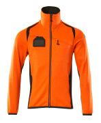 19403-316-1418 Fleecetrøje med lynlås - hi-vis orange/mørk antracit