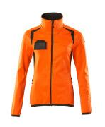19453-316-1418 Fleecetrøje med lynlås - hi-vis orange/mørk antracit