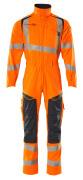 19519-236-14010 Kedeldragt med knælommer - hi-vis orange/mørk marine