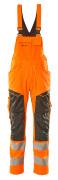 19569-236-1418 Overall med knælommer - hi-vis orange/mørk antracit