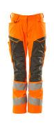 19578-236-1418 Bukser med knælommer - hi-vis orange/mørk antracit