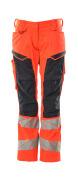 19578-236-14010 Bukser med knælommer - hi-vis orange/mørk marine