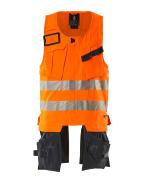 19589-711-14010 Værktøjsvest - hi-vis orange/mørk marine