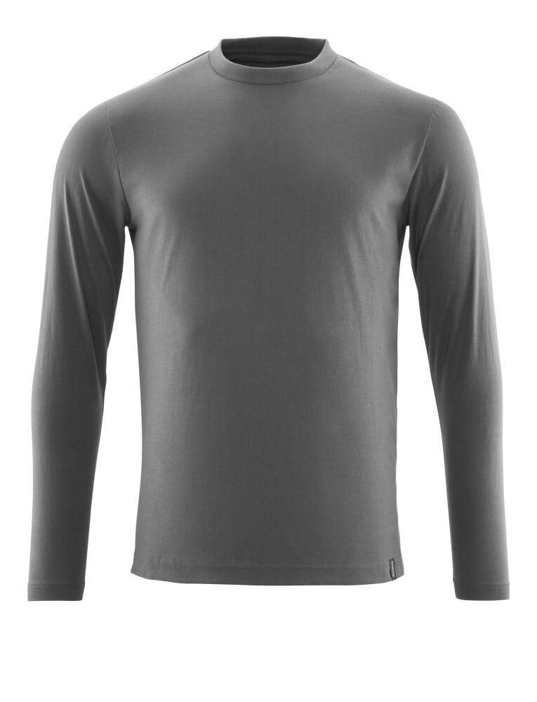 20181-959-18 T-shirt, langærmet - mørk antracit