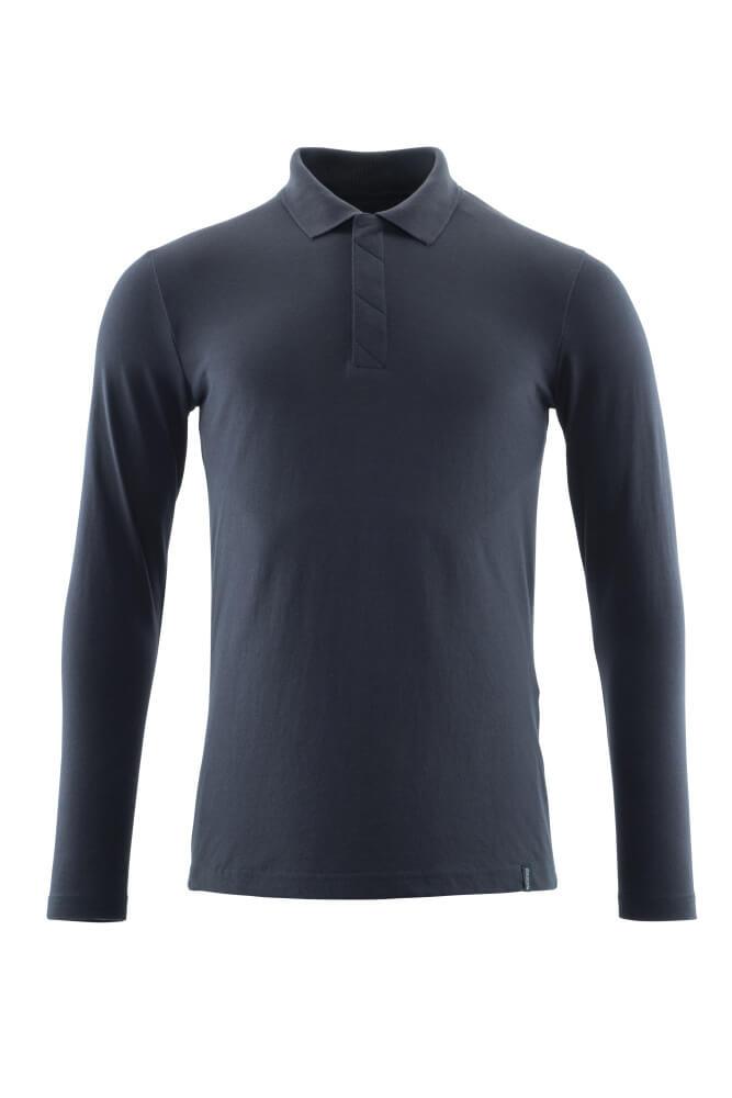 20483-961-010 Poloshirt, langærmet - mørk marine