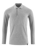 20483-961-08 Poloshirt, langærmet - grå-meleret