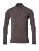 20483-961-18 Poloshirt, langærmet - mørk antracit