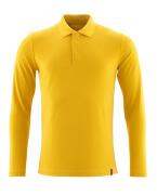 20483-961-70 Poloshirt, langærmet - Karrygul
