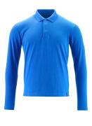 20483-961-91 Poloshirt, langærmet - azurblå
