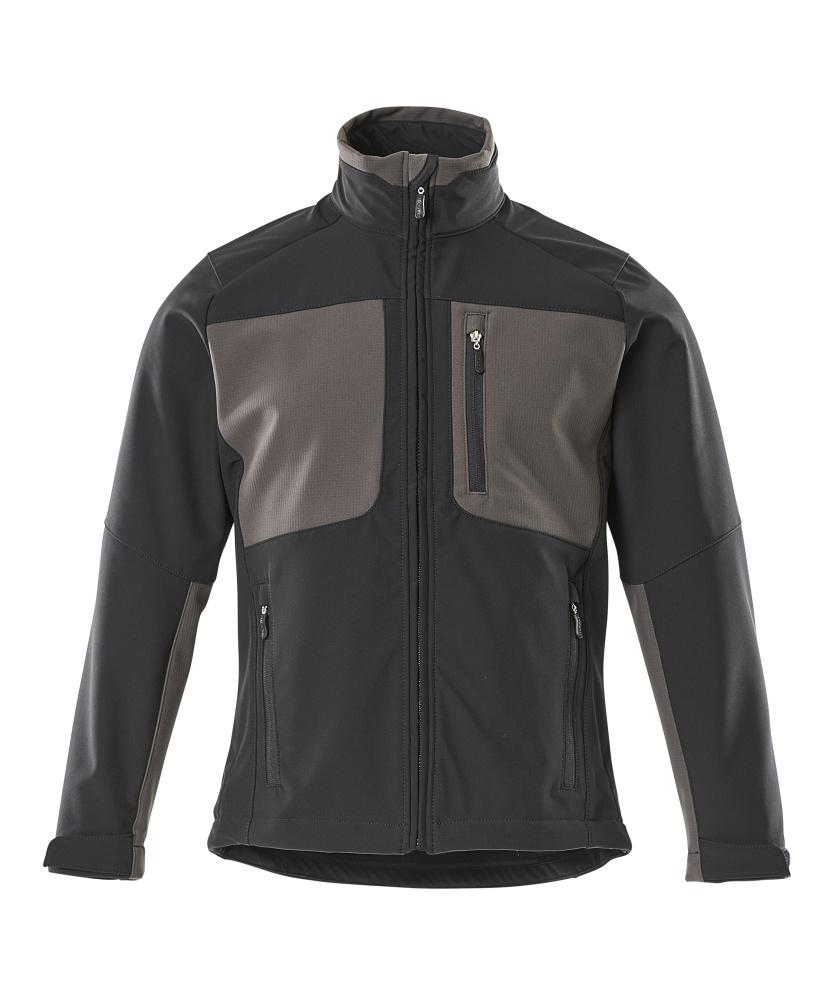 50057-824-0918 Softshell jakke - sort/mørk antracit