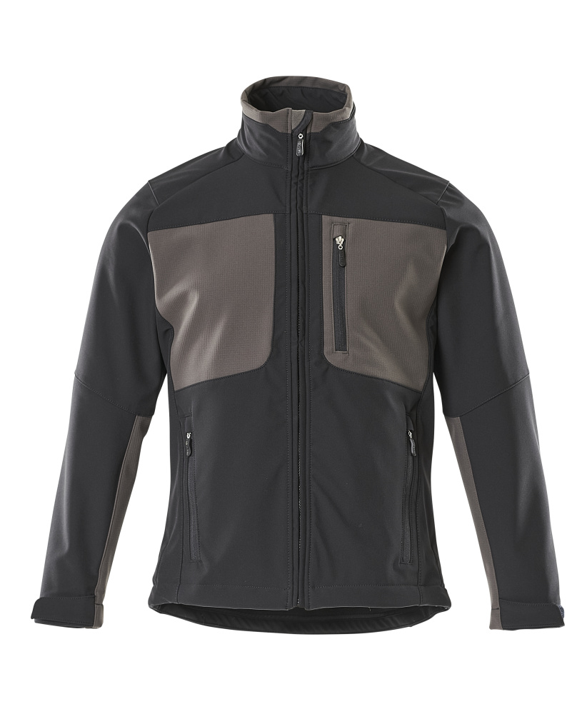 50057-824-0918 Softshell jakke - sort/mørk antracit