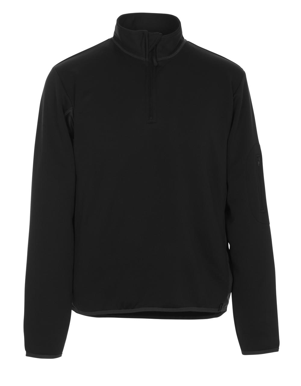 50068-828-0918 Polosweatshirt - sort/mørk antracit