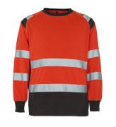 50110-854-A49 Sweatshirt - hi-vis rød/mørk antracit
