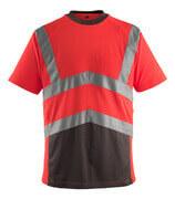 50118-949-A49 T-shirt - hi-vis rød/mørk antracit