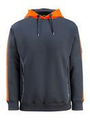50124-932-01014 Hættetrøje - mørk marine/hi-vis orange
