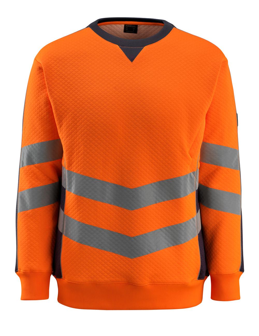 50126-932-14010 Sweatshirt - hi-vis orange/mørk marine