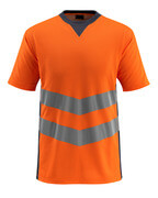 50127-933-14010 T-shirt - hi-vis orange/mørk marine