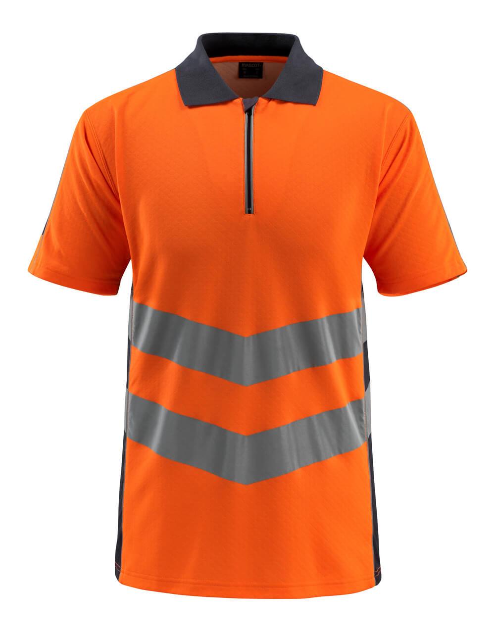 50130-933-14010 Poloshirt - hi-vis orange/mørk marine