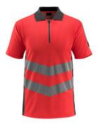 50130-933-22218 Poloshirt - hi-vis rød/mørk antracit